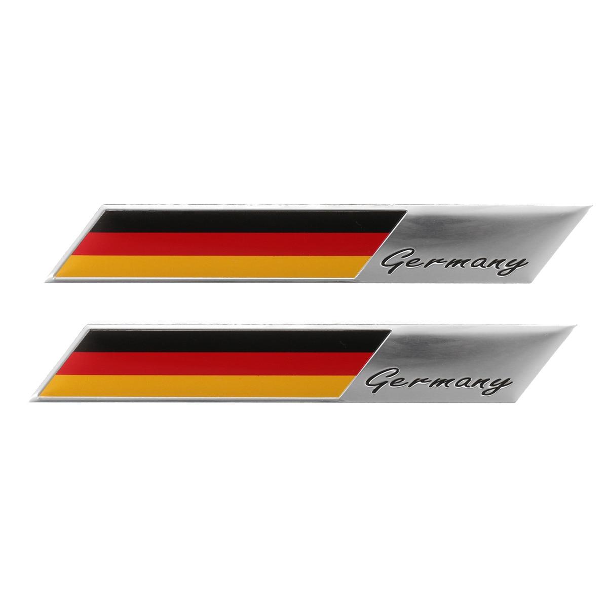 2 шт./лот, 3D герб с немецким флагом, эмблема, наклейка на автомобиль, наклейка на бампер, окно, корпус, украшение для Audi, BMW, VW