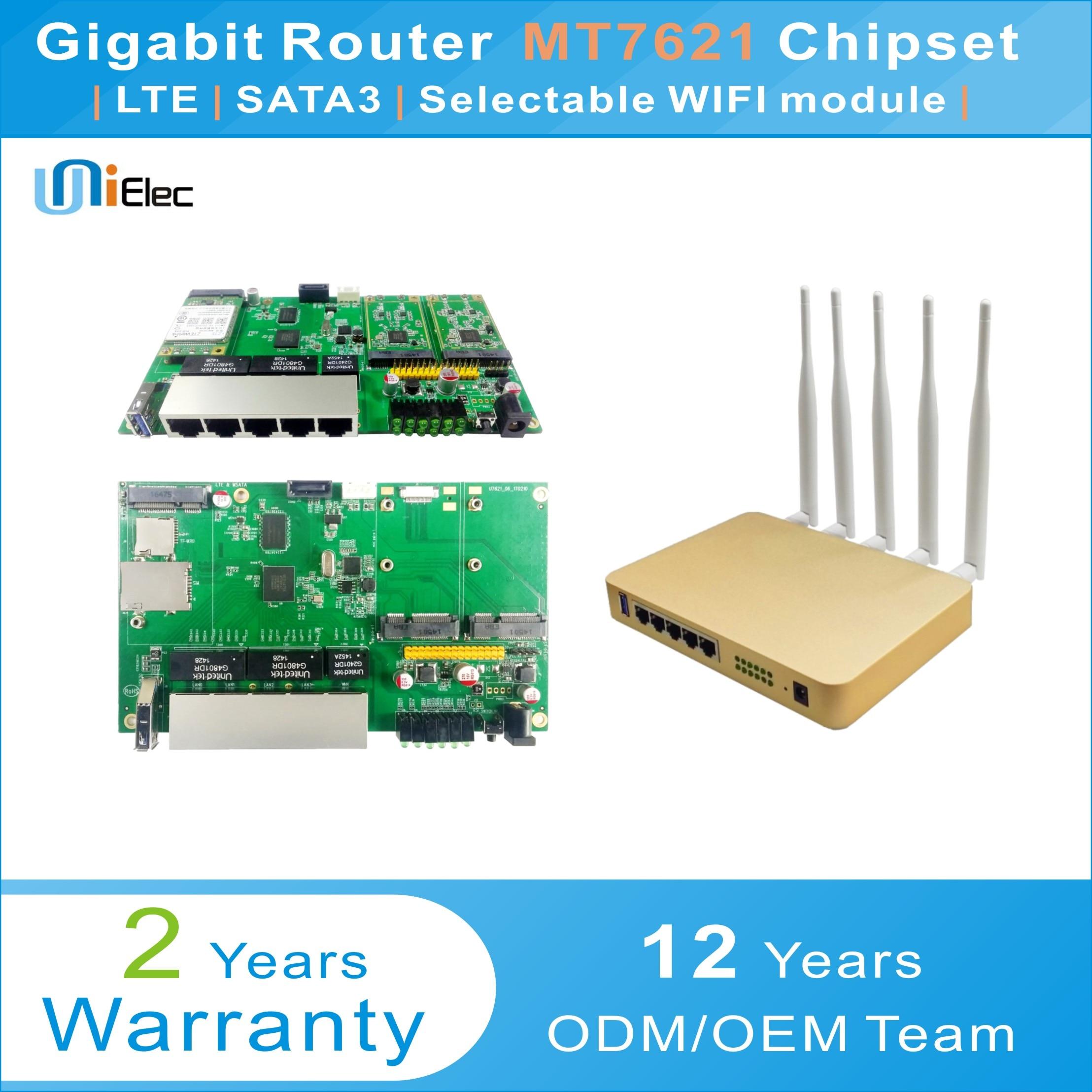 US $45 31 |MTK MT7621 Enterprise Wireless Router Sata LTE 4G WIFI OpenWrt  MT7603 MT7612 Gigabit MT7621A chipset Sim Card PCBA ODM OEM Board-in