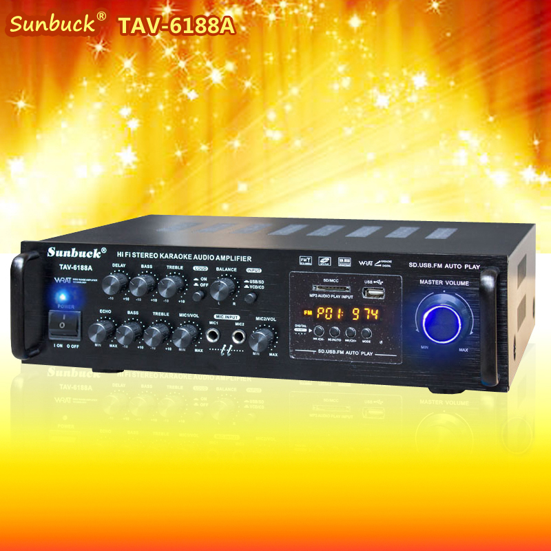 2017 NEW TAV-6188A Car audio square dancing power amplifier home digital Bluetooth MP3 decoding karaoke reverb hifi amplifier queenway airs digital car cd player change to home audio hifi professional amplifie hifi car home amp a