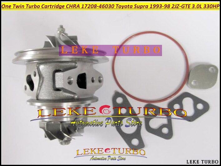 Один Twin Turbo картридж КЗПЧ CT20 17208 46030 17208 46030 Турбокомпрессоры для Toyota Supra JZA80 1993 98 2jz gte 2 jzgte 3.0l 330hp