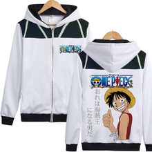 Monkey D Luffy Hooded Sweatshirts Hoodie Fleece zipper Coat