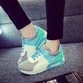 2016 новая Мода Квартиры Женщины Тренеры Дышащий Спорт Женщина воздуха Обувь Повседневная Открытый Прогулки Женщины Квартиры Zapatillas Mujer WY030