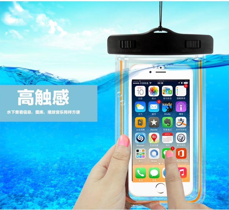 Populair Merk Lichtgevende Waterdichte Telefoon Pouch Met Verstelbare Taille Riem Voor 360 N6 Lite Pro Voor Micromax Yu Yureka 2 Zwart Q301 Q383 Q326 Mooi En Kleurrijk