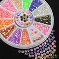 Stips Fluorescente colorido Acrílico 3D Glitters DIY Decalque Da Arte Do Prego Adesivos Roda 4RAQ