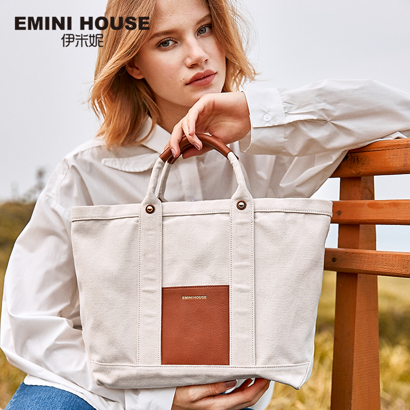 EMINI HOUSE Women s Handbags Carvas Roomy Wide Strap Tote Bag Reusable Shopping Bag Female Bags