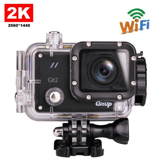 Frete grátis!! original gitup git2 wi-fi câmera de ação de esportes 2 k 1080 p 60fps full hd para sony imx206 apoio sensor de g-sensor de 16mp