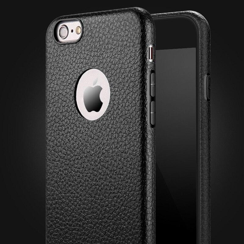 iphone 8 plus case leather black