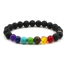 New Fashion Charm Howlite Stone Bohemia Bracelet And Volcanic Rock Lava Natural For Men Jewelry Accessories Gift