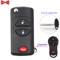 KEYECU for Dodge Dakota Durango Ram 1999 2000 Modified Remote Control Car Key Fob 3 Button FCC ID GQ43VT9T