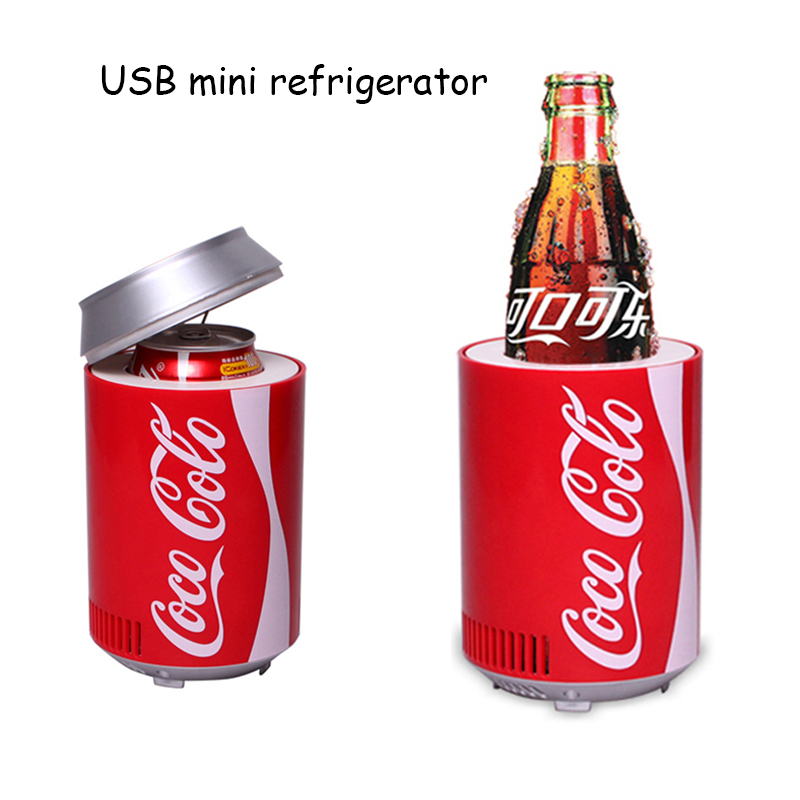 Mini Usb Fridge Cooler Heater Cool Refrigerator Dual Use Home Dormitory DC 5V 12V Car Office Refrigerator Computer Wine Cooler