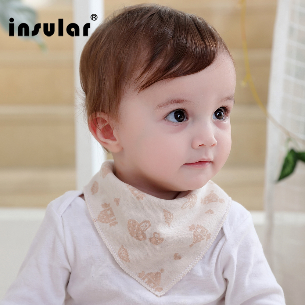 Insular New Arrival Natural Cotton Newborn Baby Bibs Soft