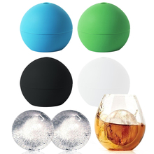 1Pc Whiskey Cocktail Ice Ball Maker Cube Silicon Sphere Round Party Bar Kitchen Easy DIY Freeze Mold Maker Kitchen Tools