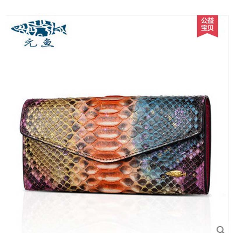 yuanyu 2018 new hot free shipping female  import real python leather women clutches long fashion snake leather bag women wallet yuanyu real snake skin women bag new decorative pattern women chain bag fashion inclined single shoulder women bag