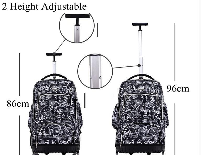 crianças viagem trole mochila para adolescentes