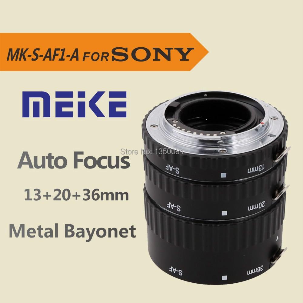 Meike S-AF-A Auto Focus Macro Extension Tube adapter Ring for Sony Alpha A57 A77 A200 A300 A330 A350 A500 A550 A850 A900 macro extension tube for sony e mount ac ms silver grey