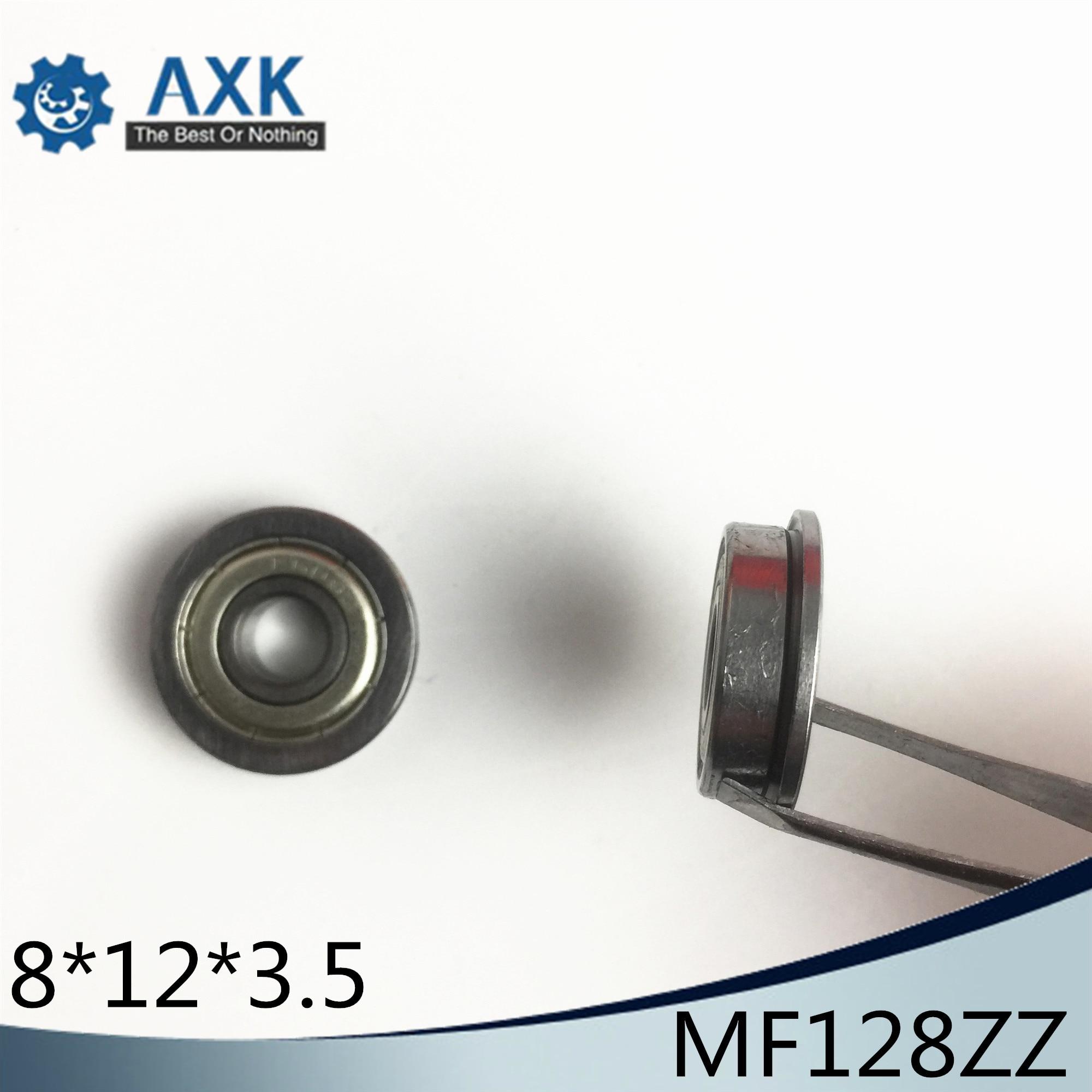 MF128-2RS 8x12x3.5 10 PCS Miniature Flanged Ball Bearings Rubber Sealed Bearing