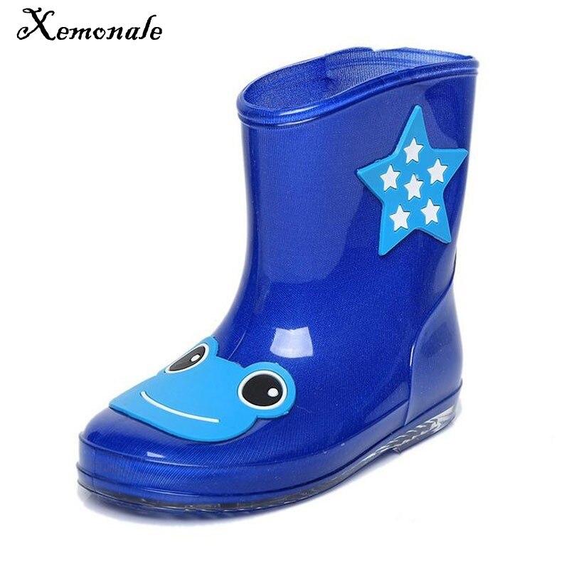 Xemonale/новый мультфильм детские резиновые сапоги для мальчиков и девочек Теплые зимние ботинки детская обувь резиновые сапоги 2018 любовный ре... ...