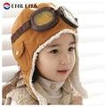 Children's Pilot Hat Baby Boys Winter Aviator Hats Caps Boys Fashion Earflap Caps