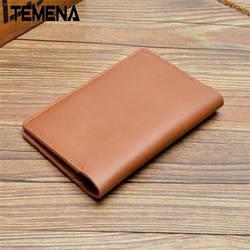 Винтажная натуральная кожа короткие 14.5 * каблук 10 см дорожный кошелек для паспорта Обложка для документов визитница aph125a