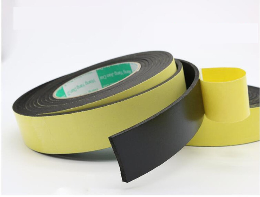 2 Rolls Eva Foam Single Sided Adhesive Tape with 40mm W 5m L 0.5mm T