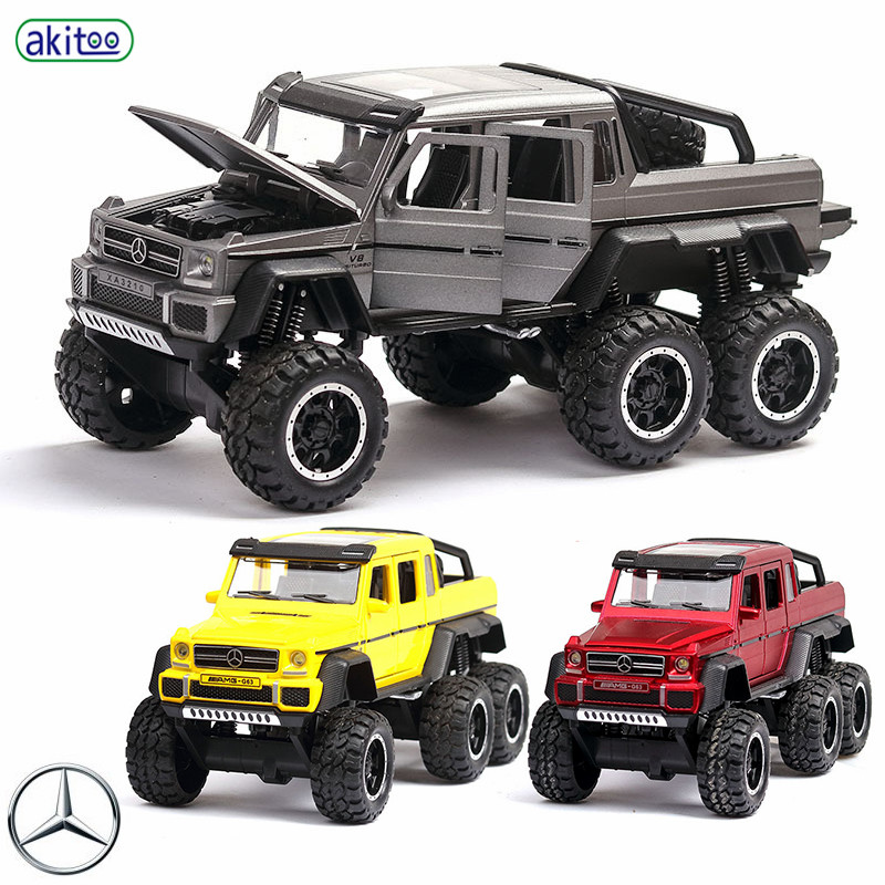 Akitoo Mercedes-Benz G63 Blasting Car Model Simulation Sound And Light Pull Back Car 6 Open Door Toy Car #2419