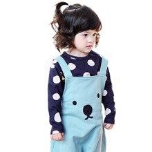 Baby Kids T-shirts cute Polka Dots Tees top Long Sleeve T-Shirt Cotton Basic Tops