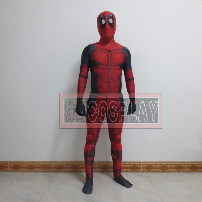Newest marvel halloween X-Men cosplay full body Deadpool Costume adult Spandex zeitai digital print lycra costume