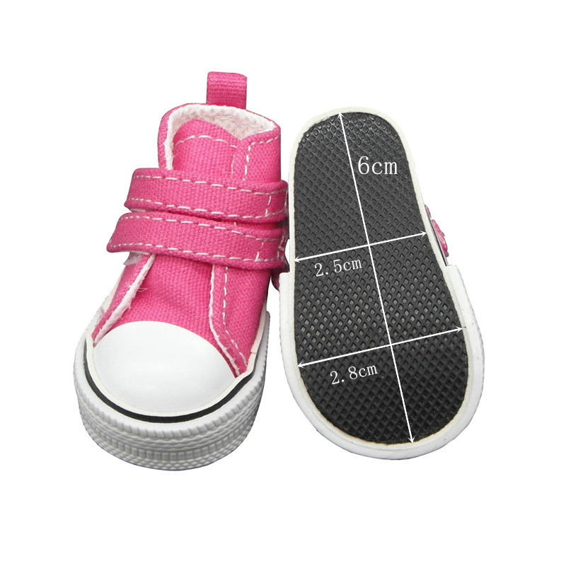 Tilda Fashion Shoes For Paola Reina Doll,Canvas Mini Toy Sport Shoes for Corolle,1/3 Bjd Doll Footwear Gym Shoes for Cloth Dolls paola reina горди без одежды 34 см 34021