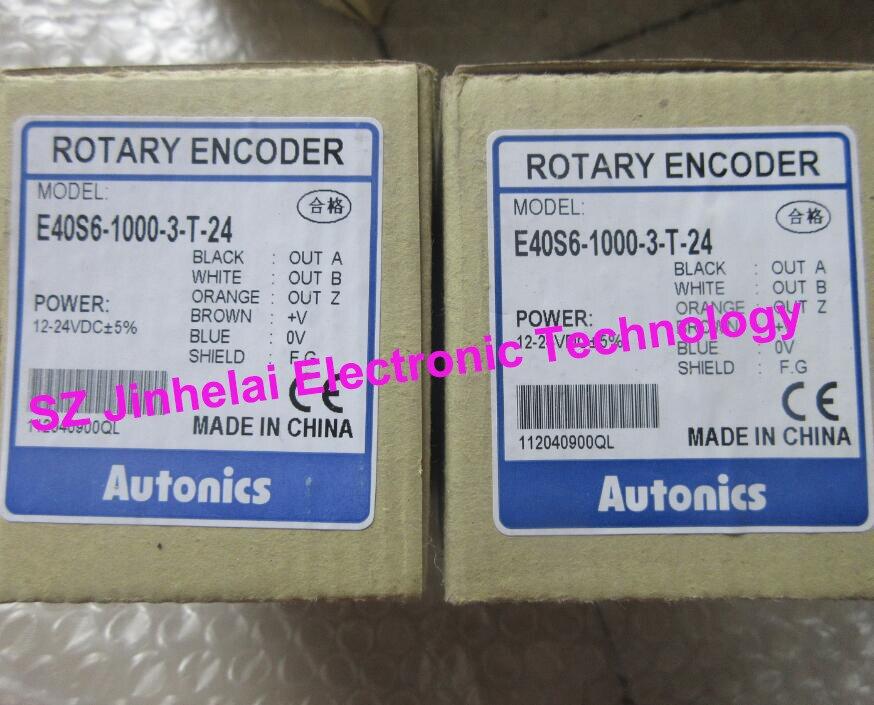 100% Authentic original E40S6-1000-3-T-24 Autonics ENCODER 100% authentic original e40s6 2500 6 l 5 autonics encoder