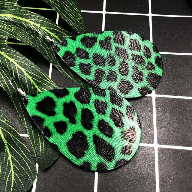 Классические леопардовые массивные серьги just feel брендовые