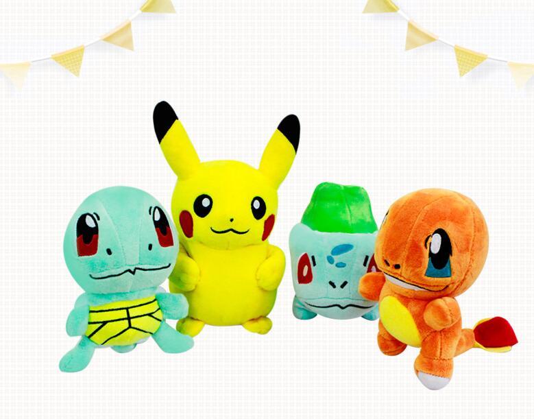 Pokemon plush toys 6 15cm 4pcs set pokemon pikachu bulbasaur squirtle charmander soft stuffed plush toys