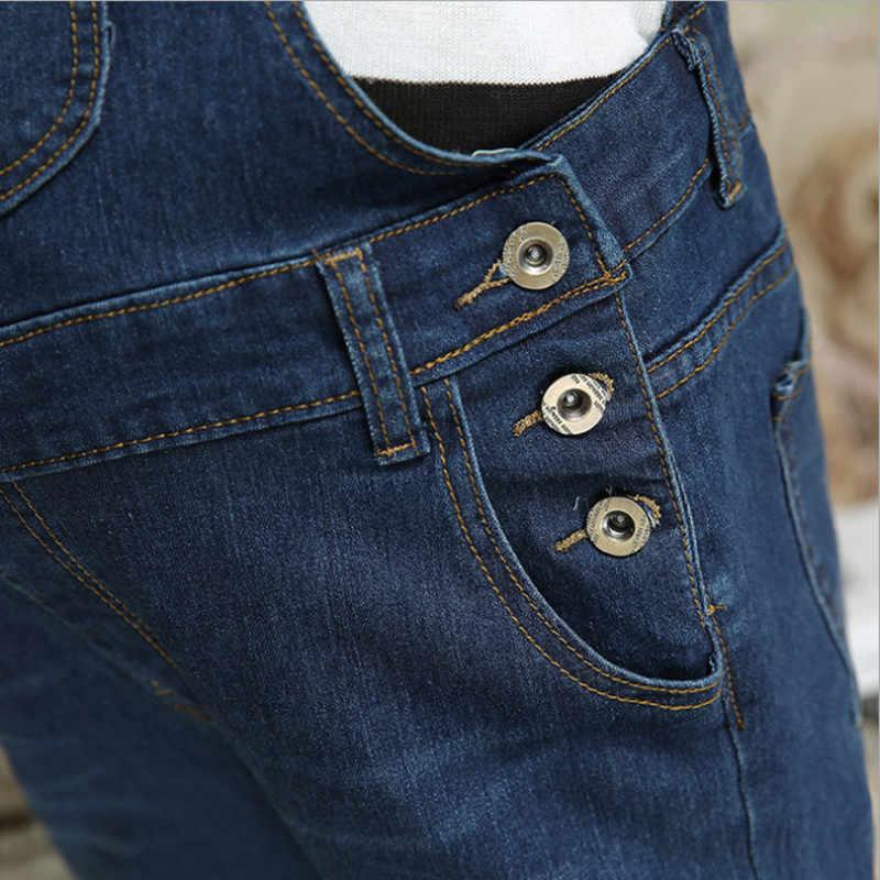 Одежда для беременных регулируемый ремень для беременных Стрейчевые обтягивающие джинсы комбинезон брюки на подтяжках Униформа Джинсы Одежда для беременных