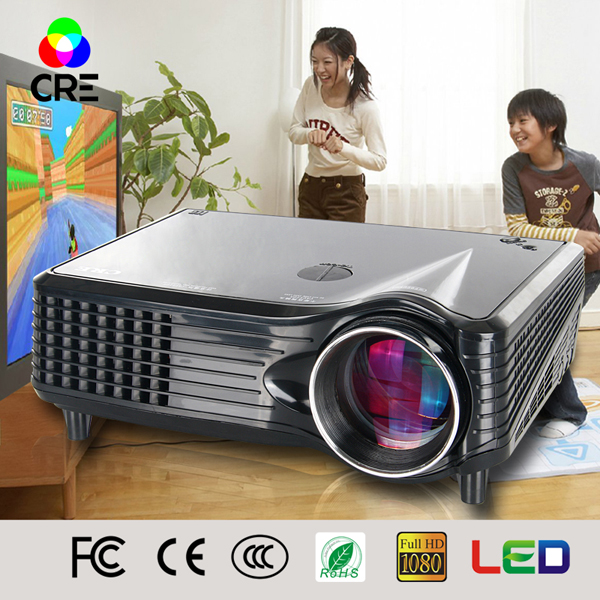 5% Discount Mini Smartphone Projector visual presenter hometheater game pc digital mini projector CRE X300
