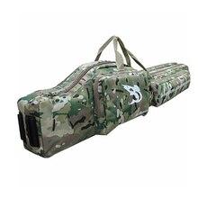 "WOLD ENMEY 47 ""Tactical Dual 1.2 m Caza Rifle Resbalón del Arma Bolsa Estuche Mochila Bolsa"