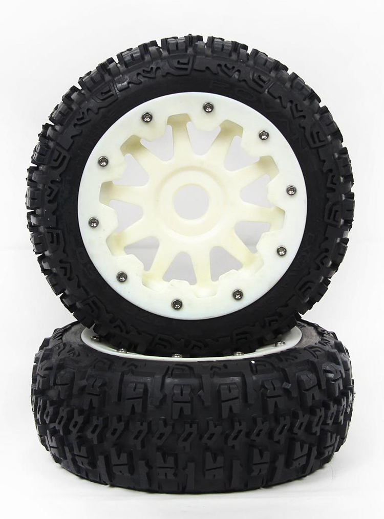 RV BAJA 5B wasteland of III generations of high-strength nylon wheel front tire assembly 95194 rv baja 5b wasteland of iii generations of high strength nylon wheel front tire assembly 95194