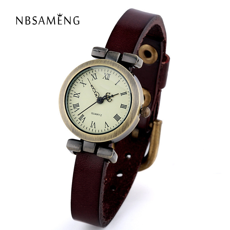 Hot Sale! New Fashion Style Leather Watch Women ROMA Vintage Watches Female Dress Wristwatches Small Dial 6 Colors LZ2082 fashion leather watches for women analog watches elegant casual major wristwatch clock small dial mini hot sale wholesale