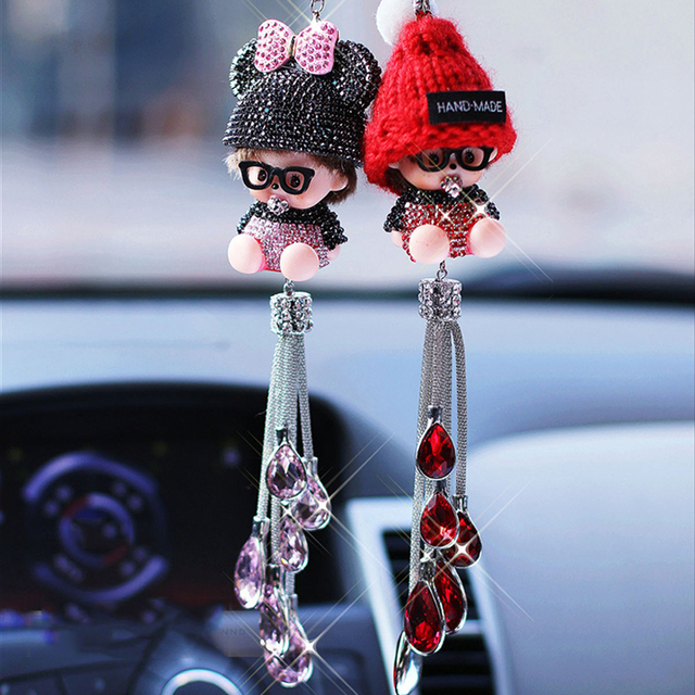 Auto Fashion Decoration Cute Kiki Car Interior Toys Accessories Doll Mirror Pendant Suspension In The