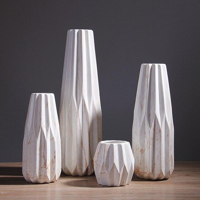 Green Sound Extra Large Nordic Ceramic Marble Vase Modern Creative
