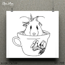 ZhuoAng Cup Animal Design Stamp / Scrapbook Rubber Craft Clear Card Seamless
