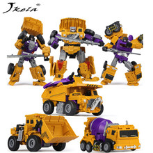 6 in 1 IN STOCK NBK Hook Action figure Robot Ko Version Gt Scraper Of Devastator Action Figure ToysOutdoor Beach Anime Figure [hot] action figure ko version kids classic robot cars devastator right thigh action figure toys for children model toy