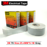 100% Original 3M tape 70 Self Fusing, Silicone Rubber Heavy Duty Triangular Electrical Tape 1 Roll (25.4mm*9.1m*0.3mm)