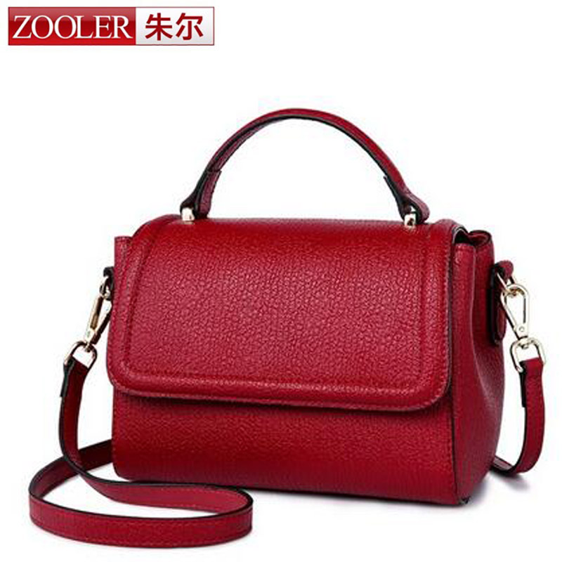 ZOOLER European and American Fashion Small Square Bag Genuine Leather Women's Handbag Shoulder Bag with Crossbody Bags for Girls