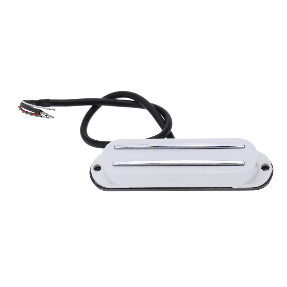 Homeland Lightweight and High Quality Dual Hot Rail Single Coil Humbucker Pickup 4 Wire For Electric Guitar Fender/Strats/ST coopervape ne rda with dual single coil building design
