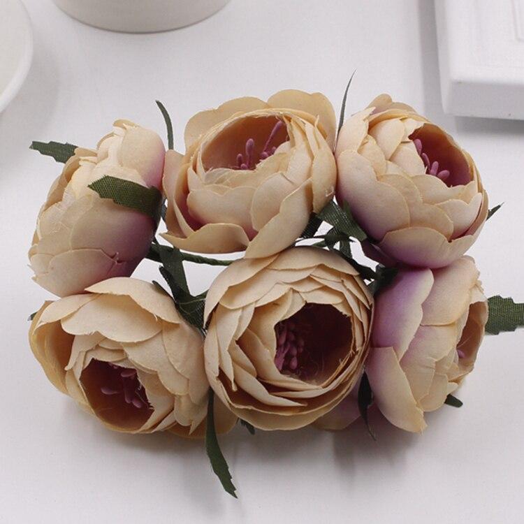 ღ Ƹ̵̡Ӝ̵̨̄Ʒ ღBridal Wedding Home Decoration Silk Flower Bouquet ...