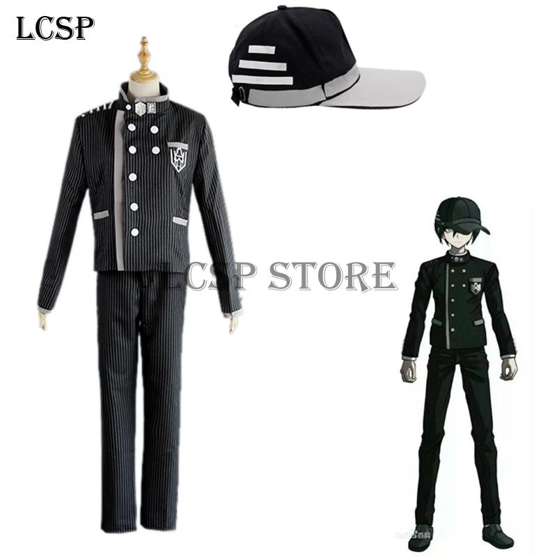 Danganronpa V3 Saihara shuichi Cosplay Costume School Uniform coat+pants