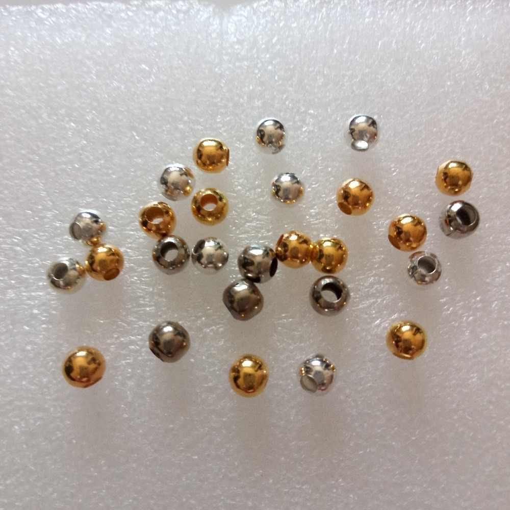 حار 50 قطعة الذهب الفضة اللون خرز معدني خزر عازل 4/6/8 مللي متر الجوف الخرز سحر ل أساور يدوية قلادة صنع المجوهرات