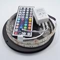 5M RGB LED Strip 5050 Waterproof 60led/m Flexible LED Light  DC 12V + 44Key IR Remote Controller one set Free shipping