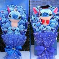 Stitch bouquet of plush toy bouquets plush toy stitch graduation kawaii valentine plush toys artificial flowers bouquet stich