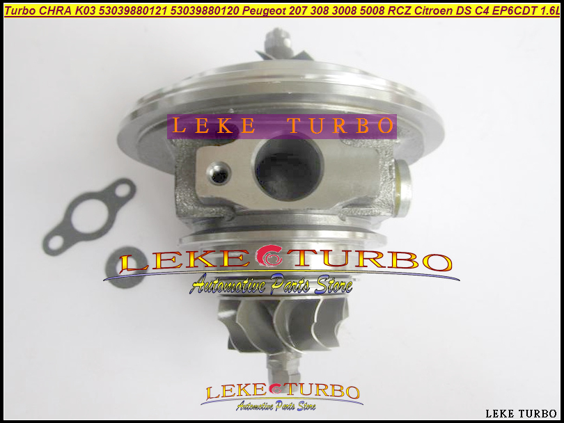 цена на Turbo CHRA Cartridge 53039880121 53039700121 0375R9 53039880120 53039700120 For Peugeot 207 308 3008 RCZ C4 EP6DT EP6CDT 1.6L