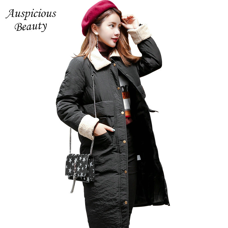 купить Winter Cotton Jacket 2017 Women New Thicken Warm Slim Overcoat Long Sleeve Solid Parkas Jacket Coat Female Clothing TSL194 дешево